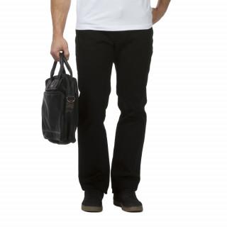 Pantalon Rugby Essentiel noir pour homme coupe 5 poches spécial grandes tailles