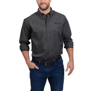 Chemise homme gris foncé Ruckfield grande taille (jusqu'au 5XL)