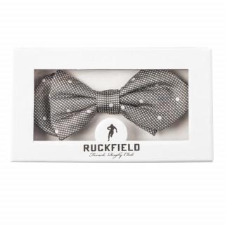 Noeud papillon gris avec imprimé à pois by Ruckfield
