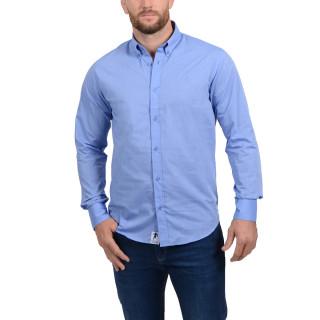 Chemise manches longues pour homme en coton de qualité disponible en grandes tailles.