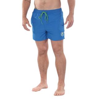 Short de bain bleu Rugby Essentiel avec patch