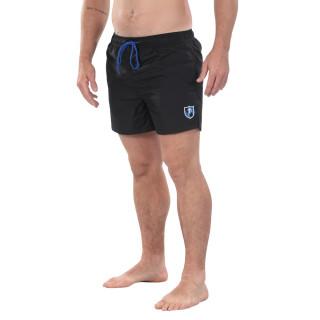 Short de bain noir Rugby Essentiel avec patch