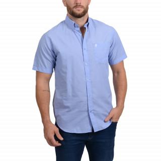 Chemise bleue à manches courtes Rugby Flower avec Logo Sébastien Chabal
