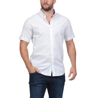Chemise blanche à manches courtes Rugby Essentiel avec logo Sébastien Chabal