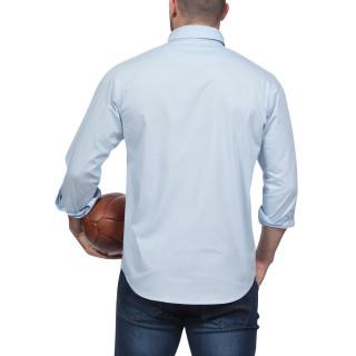 Chemise bleue à manches longues Rugby Essentiel