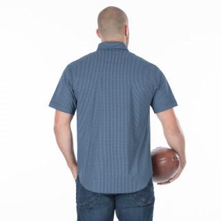 Chemise d'été homme bleu marine