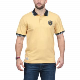 Polo rugby Australie en coton piqué jaune.