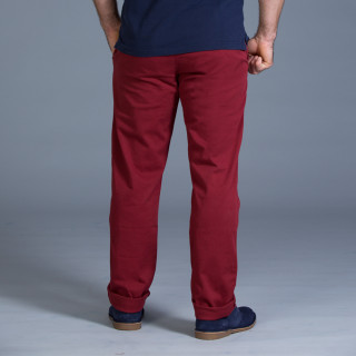 Pantalon chino bordeaux