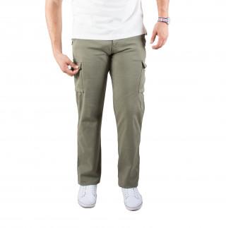 Pantalon cargo en coton élasthanne kaki avec broderie Sébastien Chabal