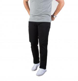 Pantalon cargo en coton élasthanne noir avec broderie Sébastien Chabal