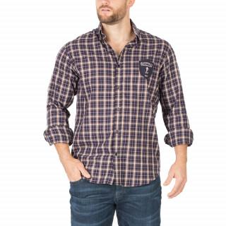 Chemise de rugby à carreaux manches longues.