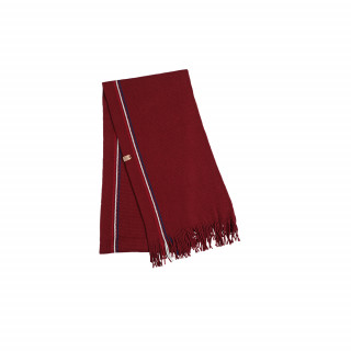 Echarpe en laine rouge made in France