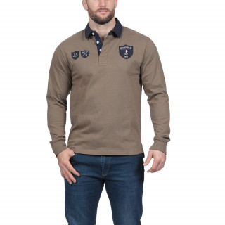 Polo 100% Coton Jersey manches longues avec broderie poitrine et dos.