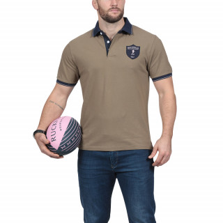 Polo manches courtes en coton jersey avec broderies We are rugby
