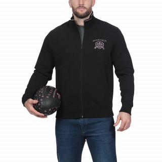 Sweat molleton noir avec broderies de qualitéDisponible en grandes tailles jusqu'au 5XL.
