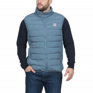 Doudoune sans manches bleu ultra légère  avec logo Sébastien Chabal sur la poitrine.Disponible en grandes tailles jusqu'au 5XL