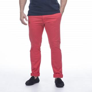 Pantalon chino rouge en coton élasthanne