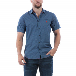 Chemise d'été pour homme. Logo brodé poitrine. Disponible du S au 5 XL