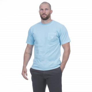 T-shirt manches courtes pour homme en coton turquoise. Disponible du S au 5XL