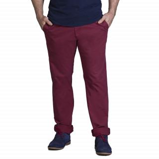 Pantalon chino bordeaux en coton élasthanne pour plus de confort