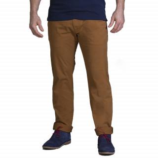 Pantalon chino chataigne en coton élasthanne pour plus de confort