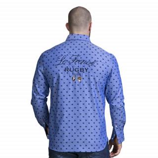 Chemise France bleu