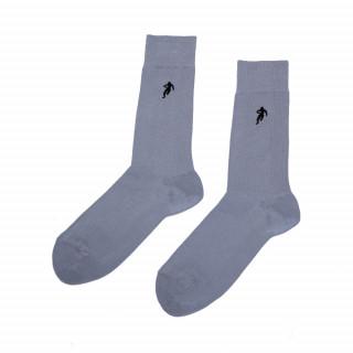 Chaussettes unies grise homme, disponible en 39/42, 43/46, 47/50