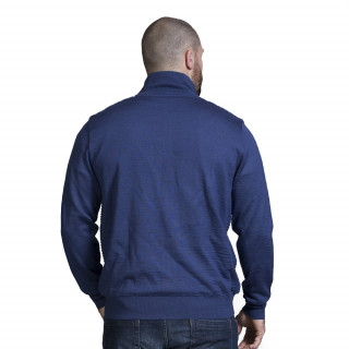Gilet zippé bleu marine