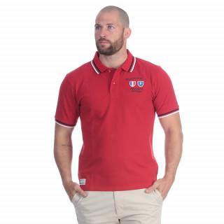Polo de rugby nations en coton rouge avec broderies poitrine et dos. Existe en grandes tailles
