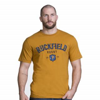T-shirt en coton jersey de couleur moutarde pour homme. Disponible en grandes tailles 5XL