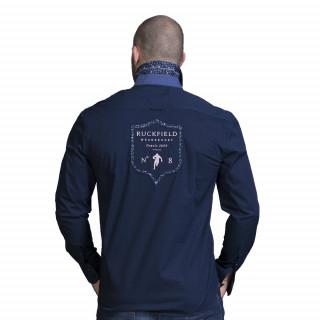 Chemise de rugby bleu marine