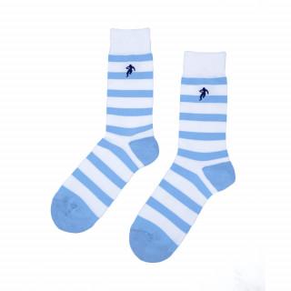Chaussettes turquoise rayées homme, disponible en 39/42, 43/46, 47/50