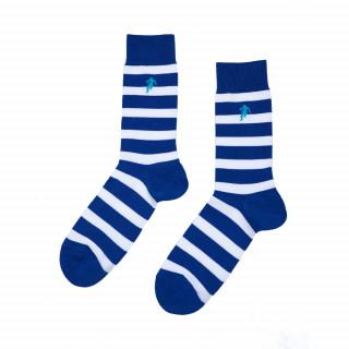 Chaussettes bleu rayées homme, disponible en 39/42, 43/46, 47/50