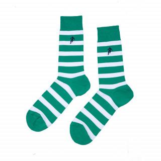 Chaussettes rayées verte homme, disponible en 39/42, 43/46, 47/50