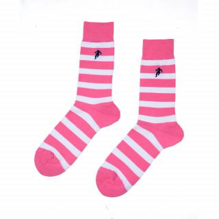Chaussettes rayées rose homme, disponible en 39/42, 43/46, 47/50