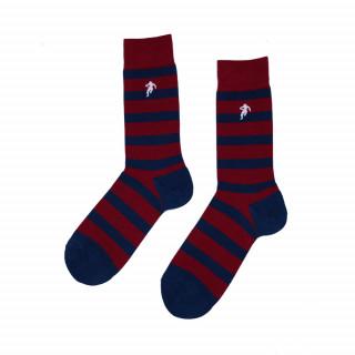Chaussettes rayées bordeaux et marine, disponible en 39/42, 43/46, 47/50