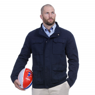 Saharienne manches longues bleu marine Rugby