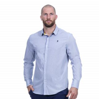 Chemise manches longues bleu thème Rugby élégance