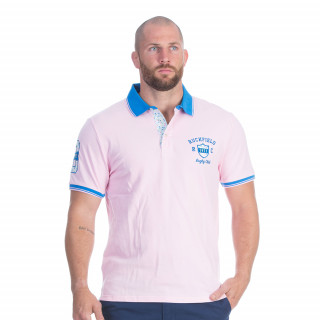 Polo manches courtes rose pale
