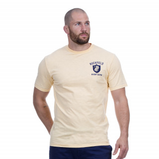 T-shirt jaune manches courtes avec broderies Rugby seven