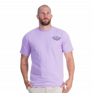 Tee-shirt manches courtes en coton parme avec sérigraphies  Maison de rugby