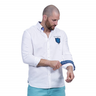 Chemise blanche manches longues avec broderies We are rugby
