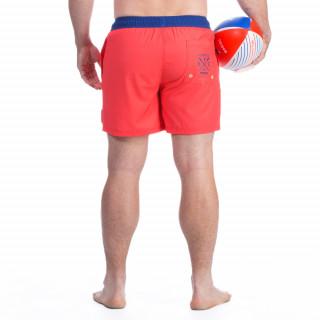 Short de bain rouge rugby marine
