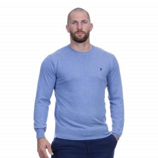 Pull manches longues col rond bleu du thème Rugby essentiel