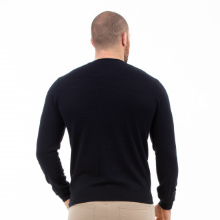 Pull col rond noir