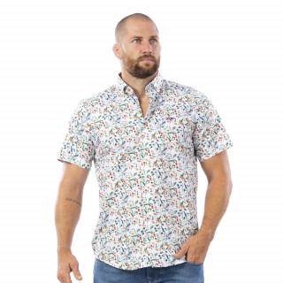 Chemise à motifs en manches courtes NZ rugby vintage.