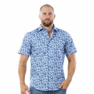 Chemise en manches courtes bleu à motifs NZ Rugby