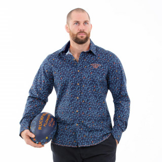 Chemise bleu fleuri