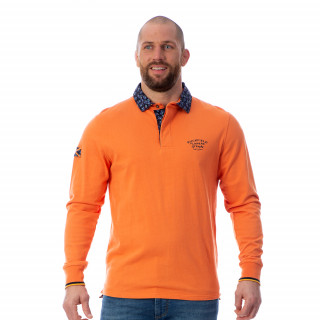Polo manches longues homme Rugby flowers