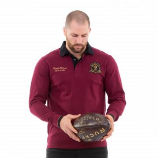 Polo manches longues bordeaux du thème rugby héritage